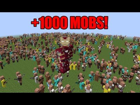 IRON MAN VS +1000 MINECRAFT MOBS!