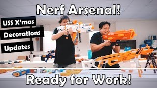 Nerf Arsenal and Battle - USS Christmas Updates - Ready for work!