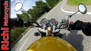 Suzuki GS 500 - Riding Fast in Swiss Alps, HD Sound (Malojapass on a motorcycle)