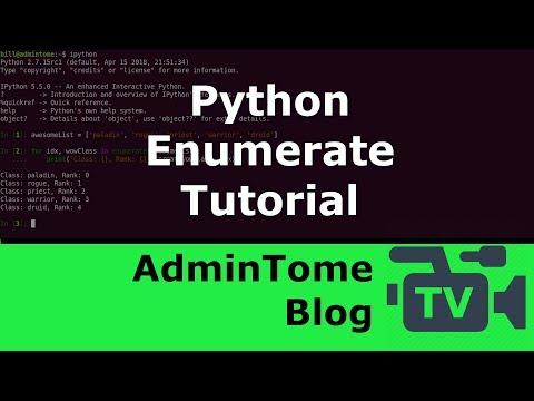 Python Enumerate Tutorial thumbnail