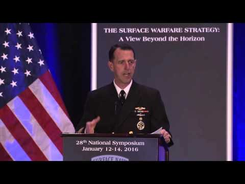 CNO ADM John M  Richardson delivers the keynote address for Surface Navy 2016