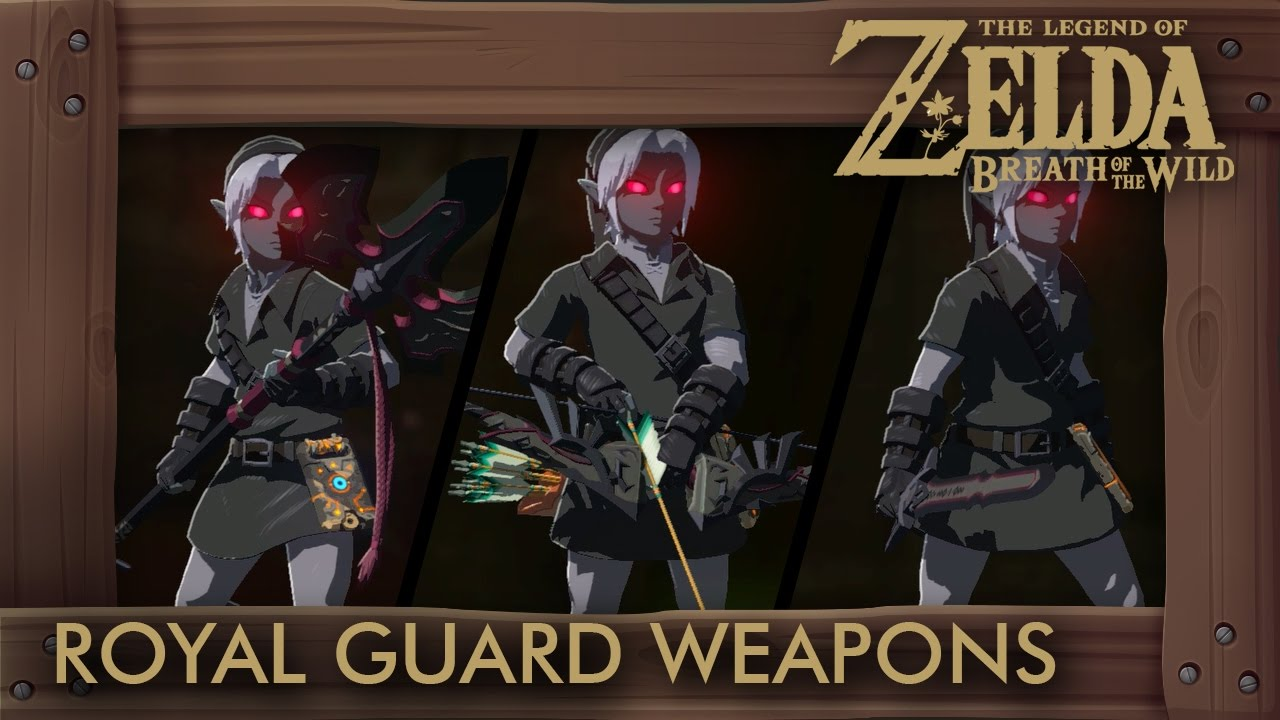 Zelda Breath of the Wild - All Royal Guard Weapons (Complete Set Location)