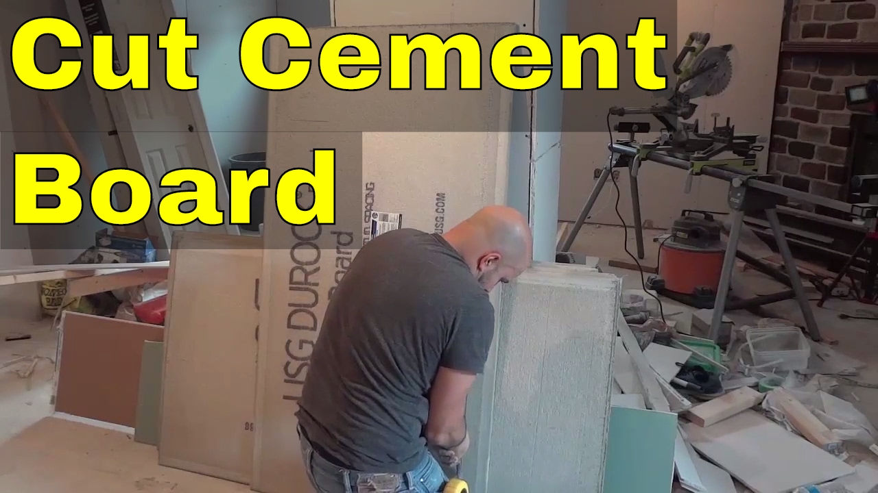 how to cut cement board full tutorial youtube. Black Bedroom Furniture Sets. Home Design Ideas
