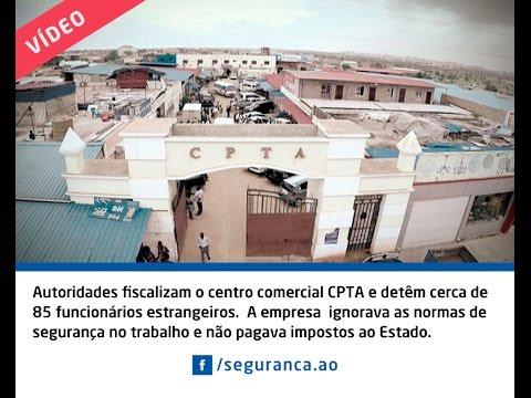 Autoridades fiscalizam o centro comercial CPTA