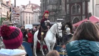 Svatý Martin přijel na bílém koni na Staroměstské náměstí
