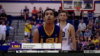 Tremont Waters Goes OFF! Career Day!! 39 Points, 4 Assists, 5 Steals!!