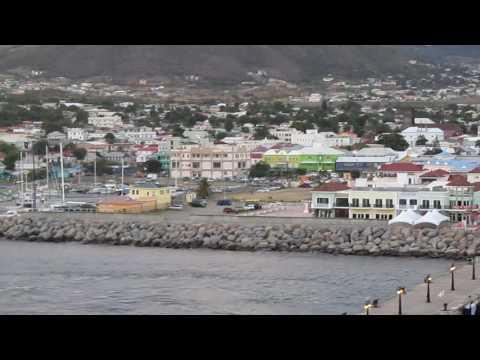 Leaving Caribbean island St Kitts
