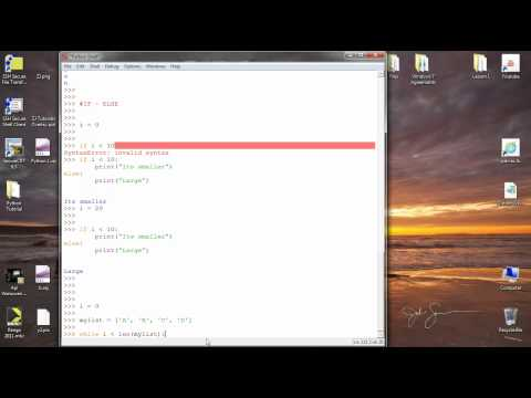Python Basics - Lesson 4 - FOR Loop, WHILE Loop and Conditional IF Statement