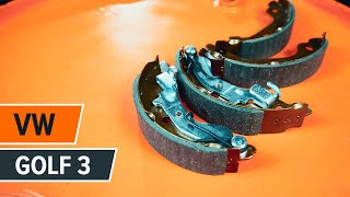 Montavimo priekyje ir gale Stabdžių trinkelių komplektas VW GOLF: vaizdo pamokomis