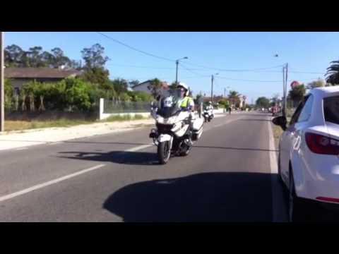 Volta Portugal bicicleta 2013, EN109, Santo André de Vagos junto as bombas Galp.