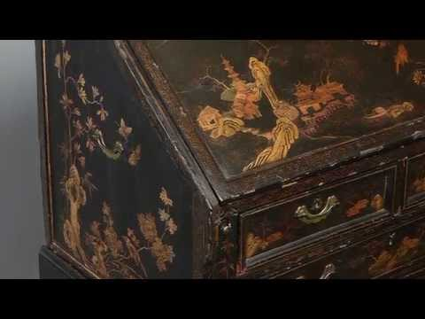 An 18th Century Chinese Export Black Lacquer Bureau