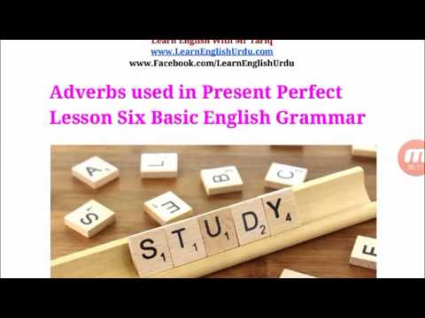 Adverbs used in Present Perfect  Lesson Six Basic English Grammar