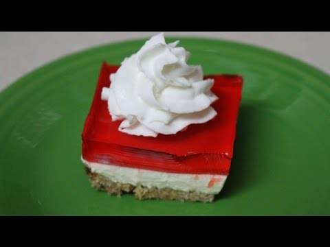 Jello Cream Cheese Cake ~ A Local Favorite