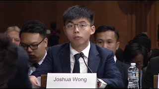 Watch live: Hong Kong activist Joshua Wong testifies to U.S. lawmakers