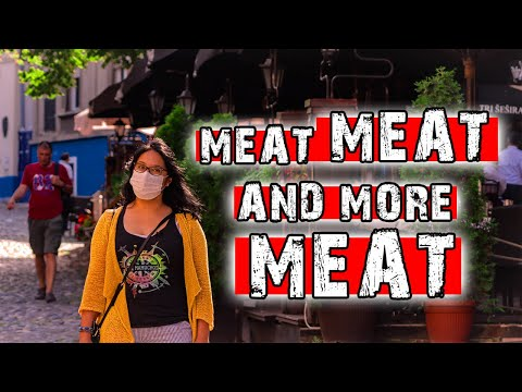 MEAT FEAST IN THE MOST BEAUTIFUL STREET IN BELGRADE 2020 | SKADARLIJA | Tri Sesira Belgrade Food