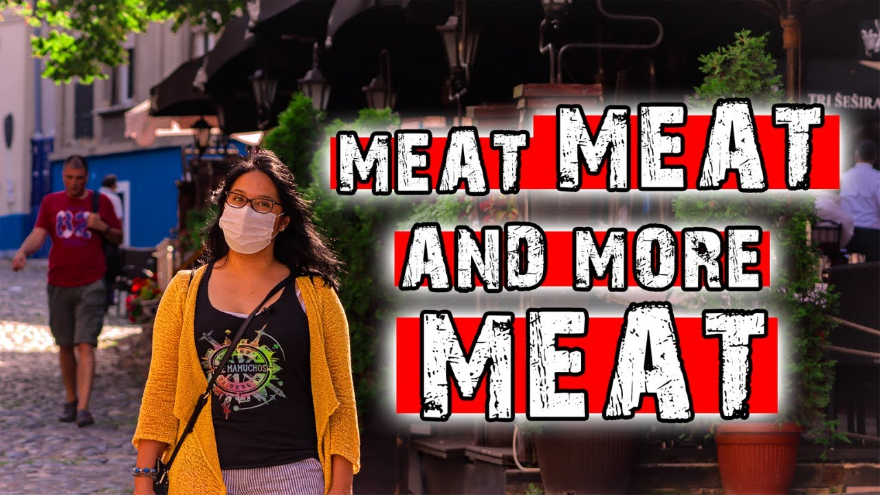 MEAT FEAST IN THE MOST BEAUTIFUL STREET IN BELGRADE 2020 | SKADARLIJA | Tri Sesira Belgrade Food 🇷🇸