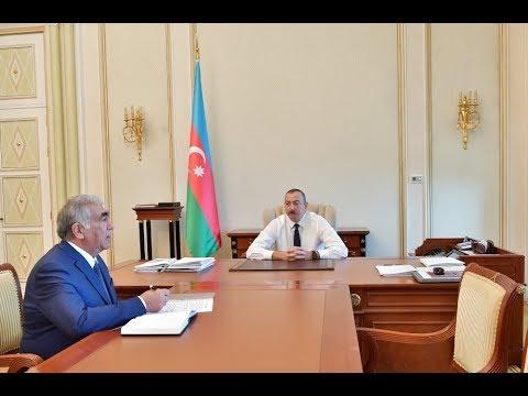 Prezident İlham Əliyev Avtomobil Yolları Dövlət Agentliyinin Idarə Heyətinin Sədrini Qəbul Edib