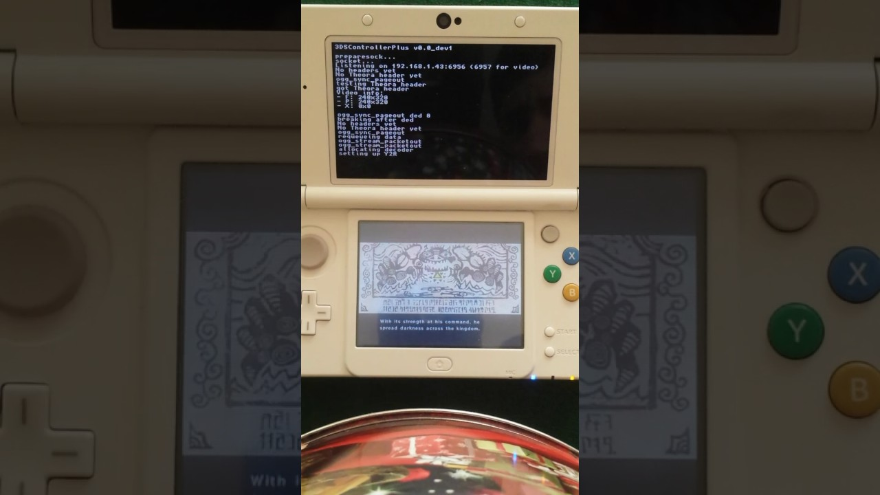 3DSControllerPlus - PC-->3DS video and input streaming