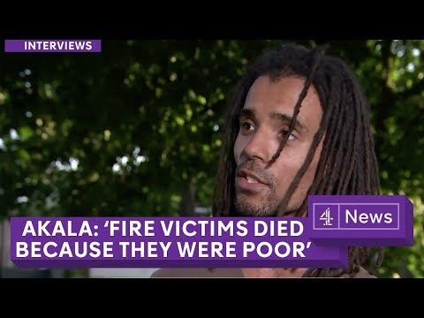 Musician Akala: People died in London fire 'because they were poor'