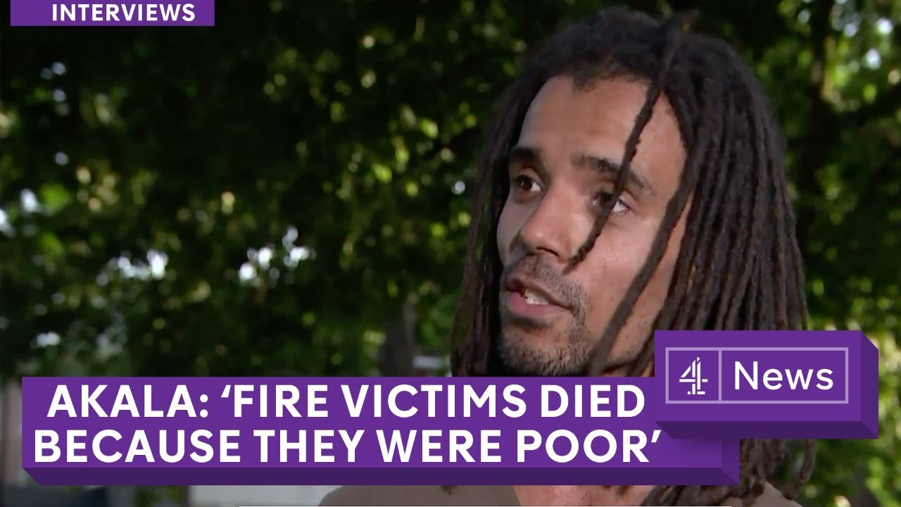 Musician Akala | People died in London fire 'because they were poor'