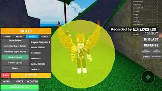 All of the forms in ROBLOX DB RAGE(EXCLUDING FLAME TO SSJB3)