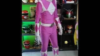 Pink ranger full suit review.(male ver.)