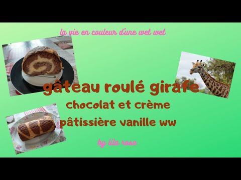 gâteau-roulé-girafe-chocolat,-crème-pâtissière-vanille-light-ww