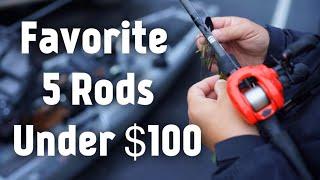 My 5 Favorite Bass Fishing Rods Under 100 Dollars