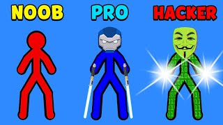 NOOB vs PRO vs HACKER - Supreme Duelist Stickman