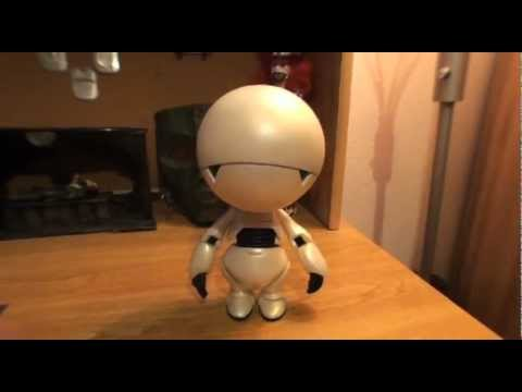 """Turmoil In The Toybox - NECA Hitchhiker's Guide to The Galaxy Marvin 10"""" Figure"""