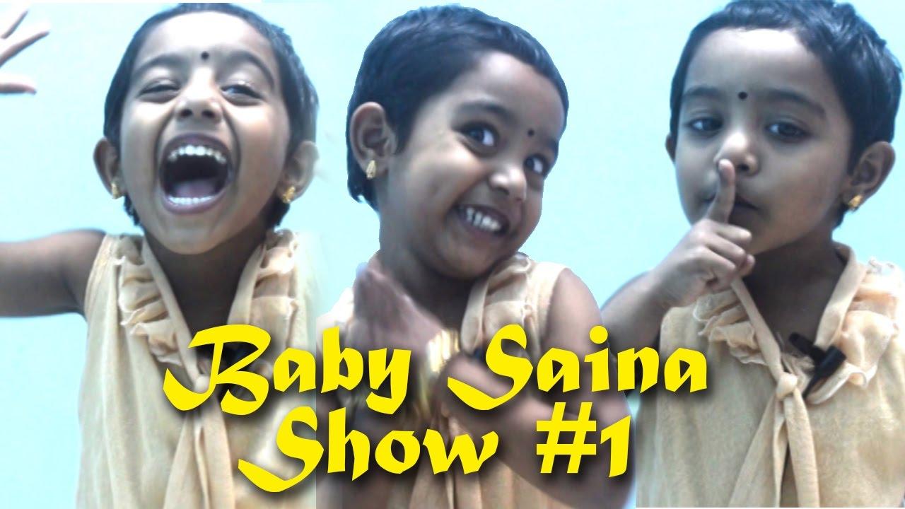 Baby Saina 'Johny Johny Yes Papa' Rhyme Show #1 - YouTube