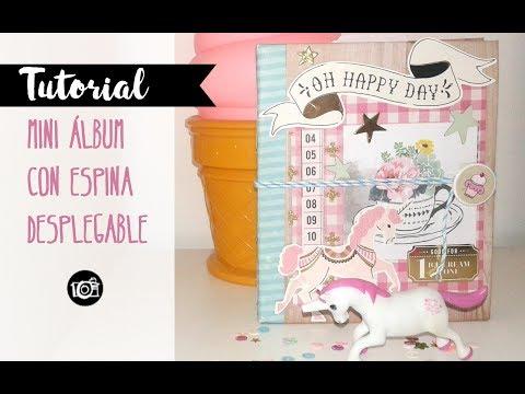 Scrapbook Tutorial MINI ALBUM  Carousel