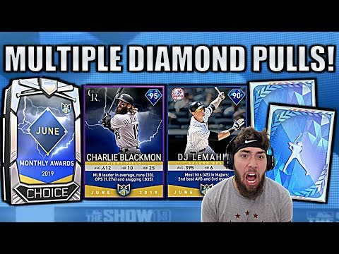 WE GOT 95 CHARLIE BLACKMON & PULLED 2 DIAMONDS! MLB The Show 19 Pack Opening!