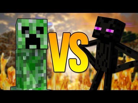Эндермен vs крипер | супер рэп битва | enderman minecraft против creeper
