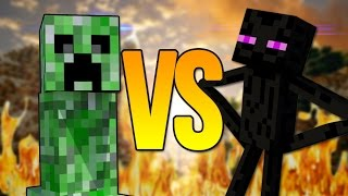 Эндермен VS Крипер СУПЕР РЭП БИТВА Enderman Minecraft ПРОТИВ Creeper