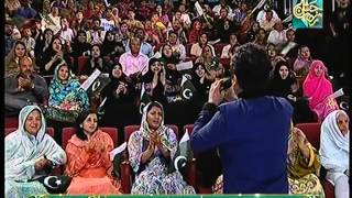 Saleem Javed singing (Tera Pakistan) at Jasheramzan live 27th IftarTransmission HUM TV show