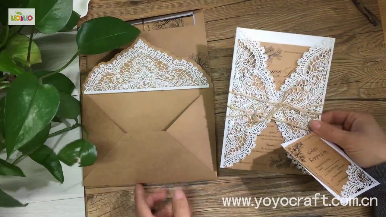 Diy Wedding Invitations Card Kraft