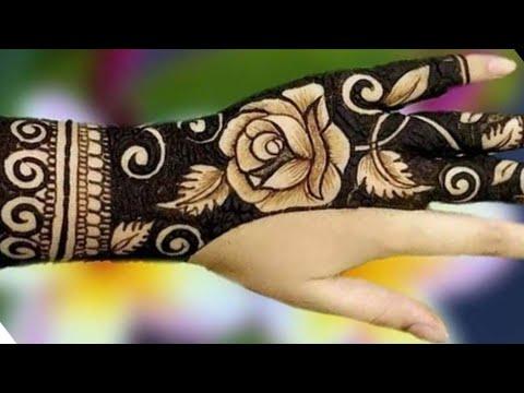 Stunning New Back Hand Henna Or Mehndi Design    Easy Rose Design For Beginners Step By Step
