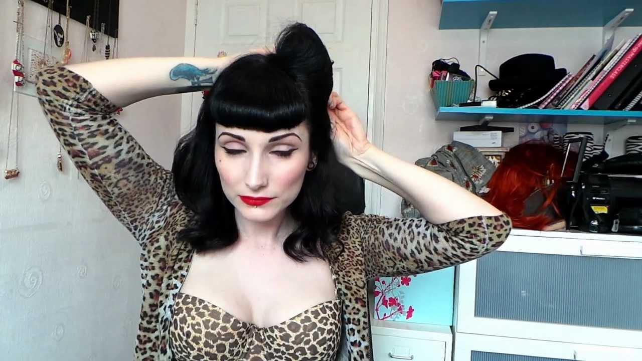 Pinup Vintage 1950s Hair Tutorial Victory Rolls Dita Von