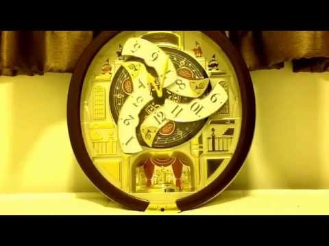 Seiko Melodies in Motion Clock QXM554BRH (All Christmas Songs ...