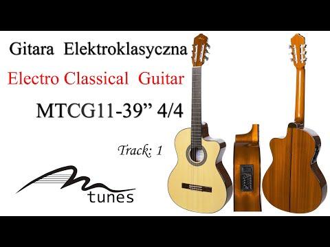 "Electro classical guitar 4/4 39"" M-tunes MTCG11 video"