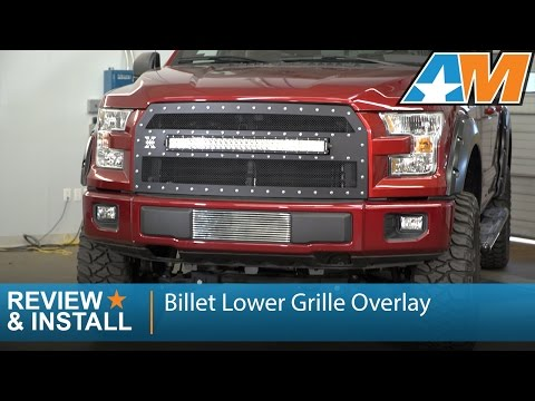 2015-2016 F-150 Billet Lower Grille Overlay - Polished Review & Install