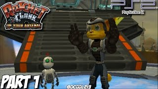 Ratchet and Clank: Up Your Arsenal Gameplay Walkthrough Part 1 - Veldin & Florana - PS2 Lets Play
