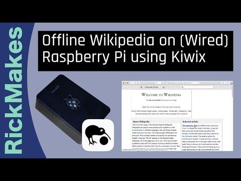 Offline Wikipedia On (Wired) Raspberry Pi Using Kiwix