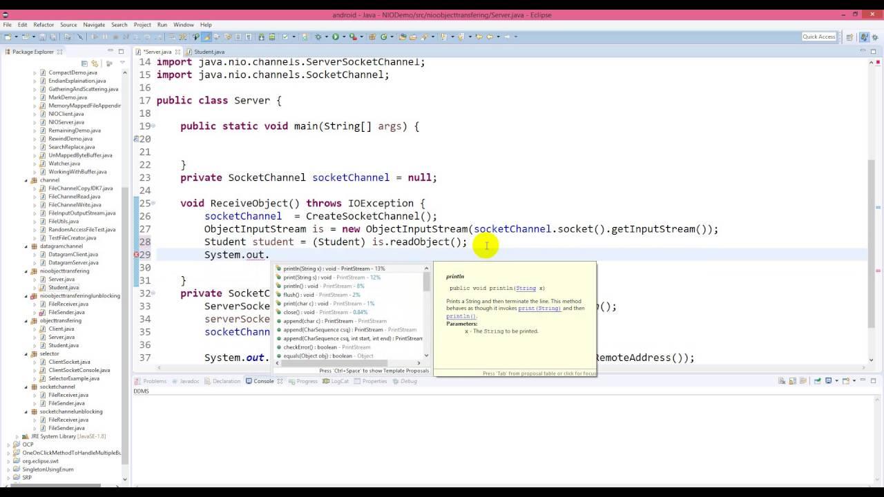 Java nio transfer object using socketchannel youtube java nio transfer object using socketchannel baditri Images