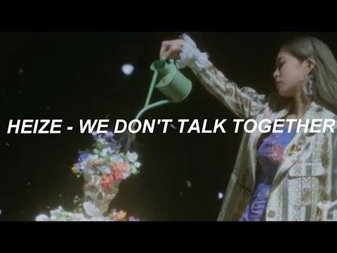 Heize (헤이즈) - 'We Don't Talk Together (ft. Giriboy)(Prod. SUGA)' Easy Lyrics
