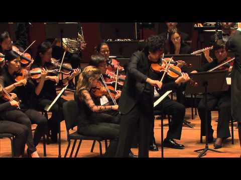 """Star Violinist"", Mr. Lu Siqin kicks it on ""Carmen Fantasia"" at Lincoln Center NYC"