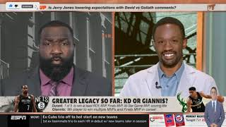 FIRST TAKE | Stephen A. GOES CRAZY Kevin Durant still greater legacy so far than Giannis