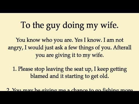 Husband Realized His Wife Is Cheating Rather Than Revenge Just Left a Note for Him thumbnail