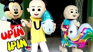 Upin Ipin & Balon Karakter Micky Mouse, Unicorn, Shark, Doraemon, Hello Kitty & Captain Amerika